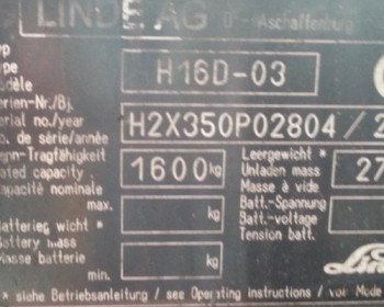 MOTORE COMPLETO H16D Linde
